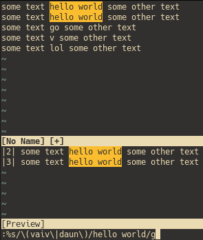 I think vim's search&replace is a better deal - Complaints